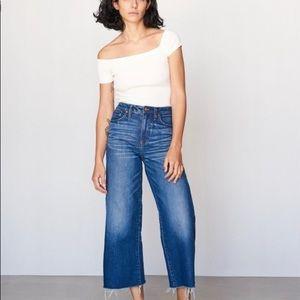 •MAKE OFFER Madewell wide leg crop jeans